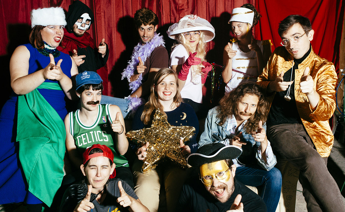 Members of Sitcom Theatre include (back row, l-r) Bethy Squires, Colin Jenkins, Chris Clements, Janelle Beasley, Courtney Foster, William McHenry, (middle row, l-r) Jenna Beasley, Kim Naeseth, Nicci B, (front row, l-r) Erin Tobey, and Michael Barton. | Photo by Natasha Komoda