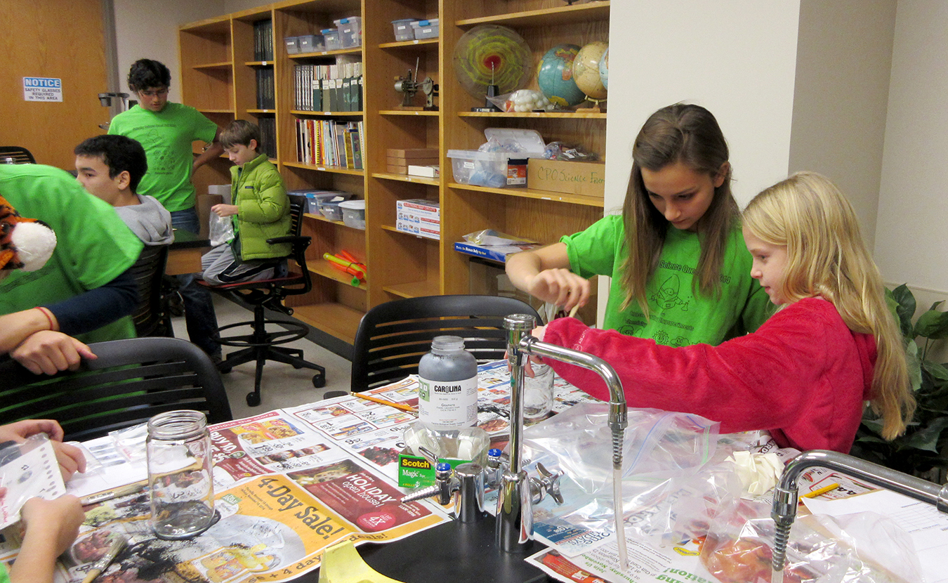 For six Saturdays each fall and spring, kids ranging in age from kindergarten to eighth grade take over college classrooms while attending Saturday Science Quest for Kids and Saturday Art School. | Courtesy photo