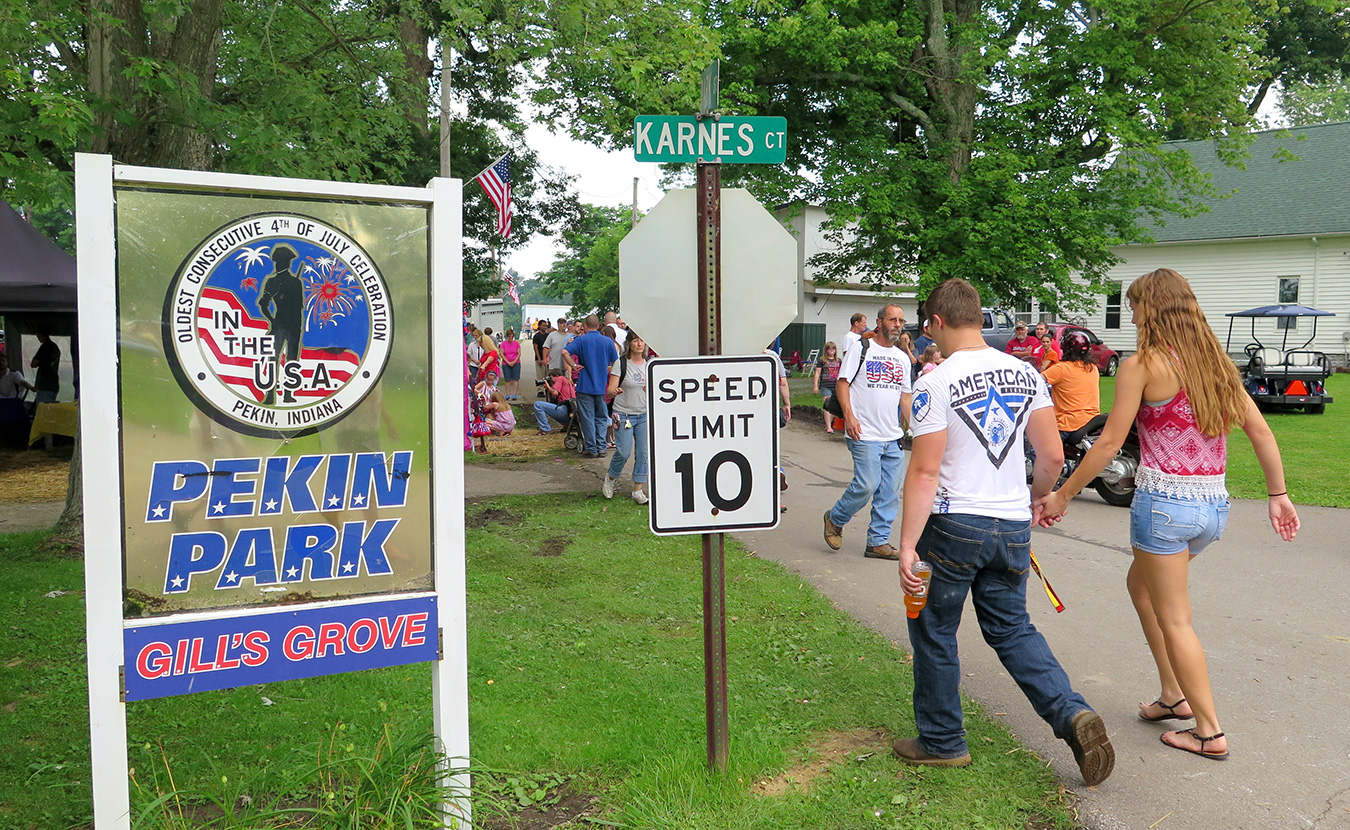 """Every year since 1830, New Pekin, in southern Indiana, has celebrated the 4th of July, making it what the townspeople say is the """"Oldest Consecutive 4th of July Celebration in the Nation.""""   Limestone Post"""