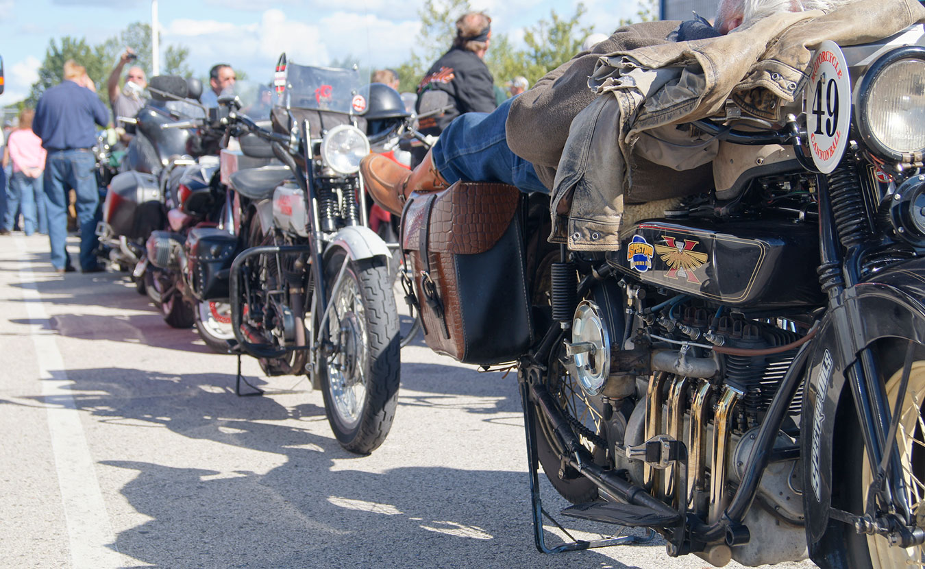 """The Motorcycle Cannonball Run, which is named after Hoosier Erwin """"Cannon Ball"""" Baker, will be coming through Bloomington on September 13. Riders will attempt the cross-country trek on century-old motorcycles. 