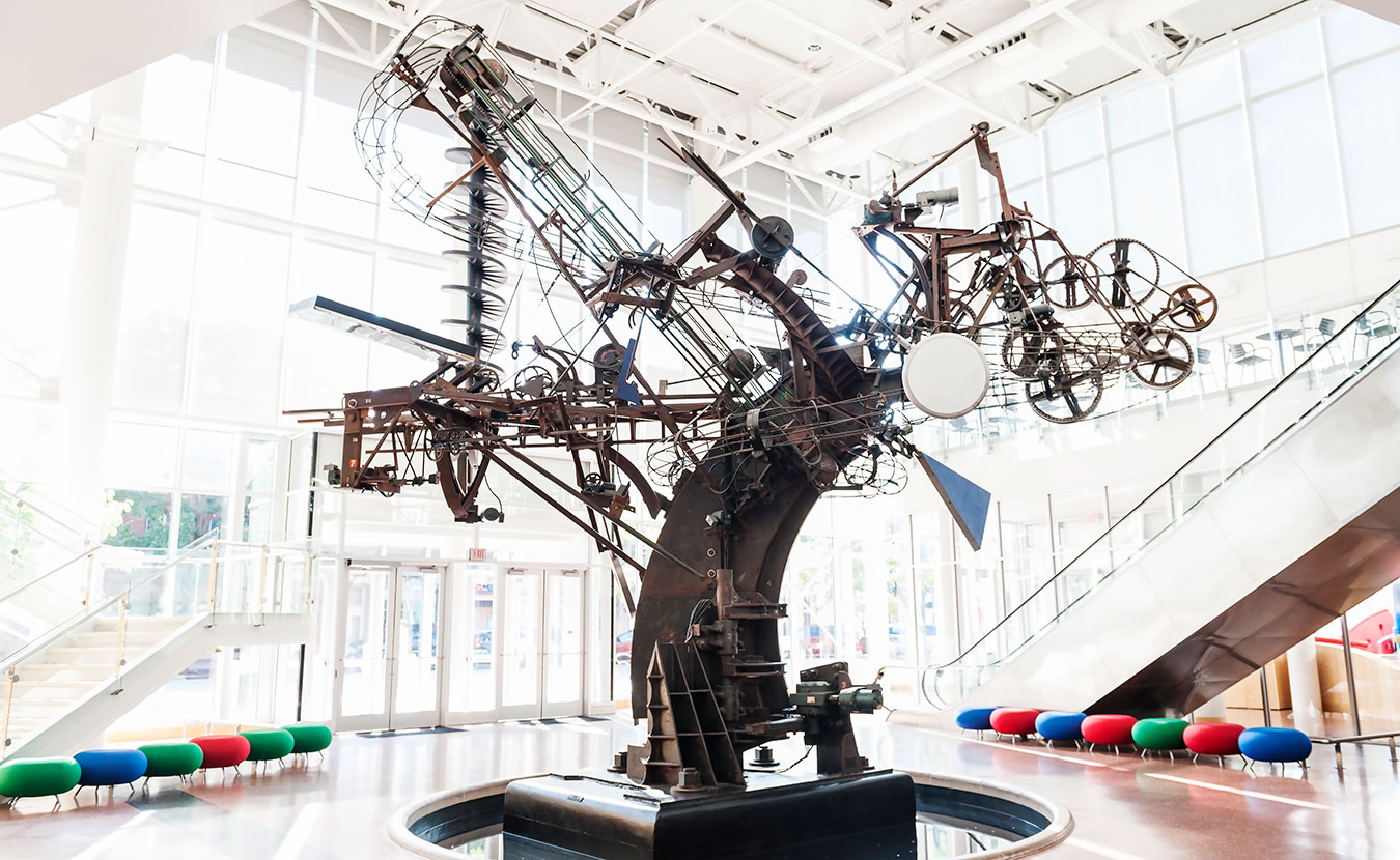 """""""Chaos I"""" by Jean Tinguely. 