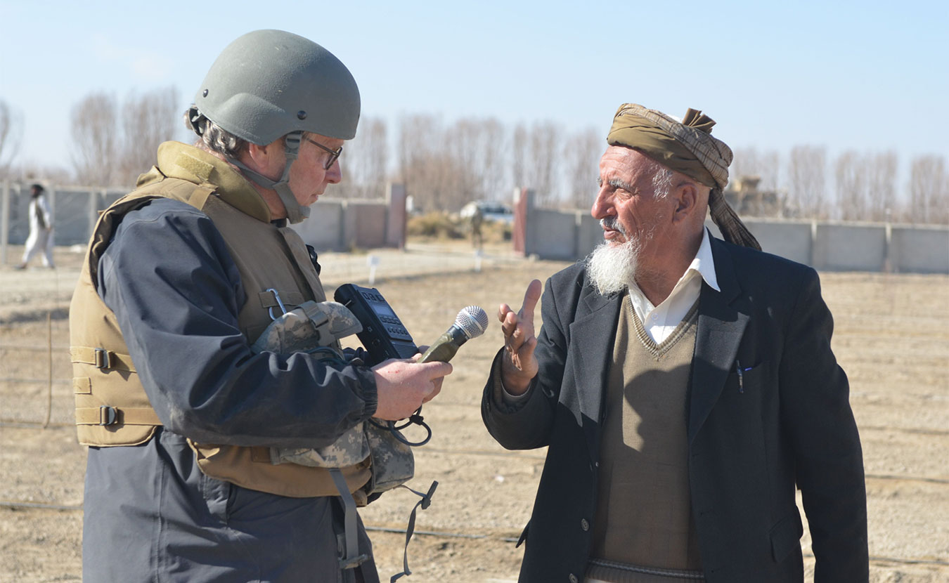 """Journalist Doug Wissing has become something of a hands-on scholar of the U.S. war in Afghanistan. After embedding with several military units and speaking with the people of Afghanistan, Wissing says he was able to see """"every aspect of the war."""" 