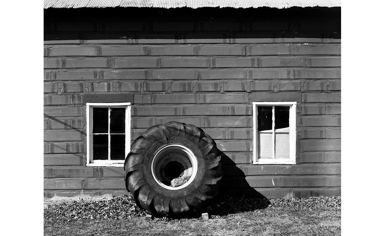 A large tractor tire in Bowling Green, Indiana. | Photo by Adam Reynolds