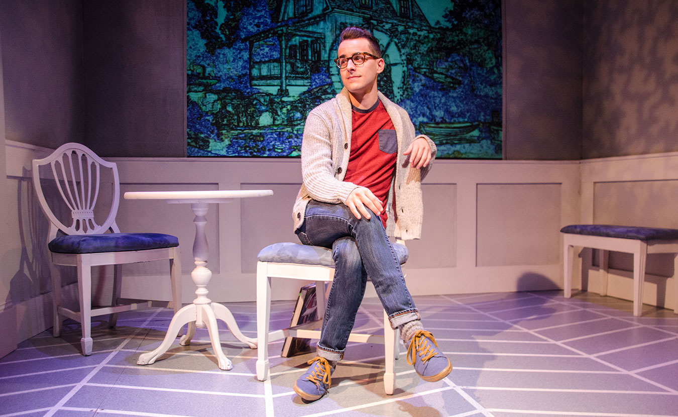 """New-York-based Equity actor Remy Germinario as Alex in Cardinal Stage's 2015 production of """"Buyer and Cellar."""" Rachel Glago, marketing manager at Cardinal Stage Company, says Equity houses lead """"to overall economic growth."""" 