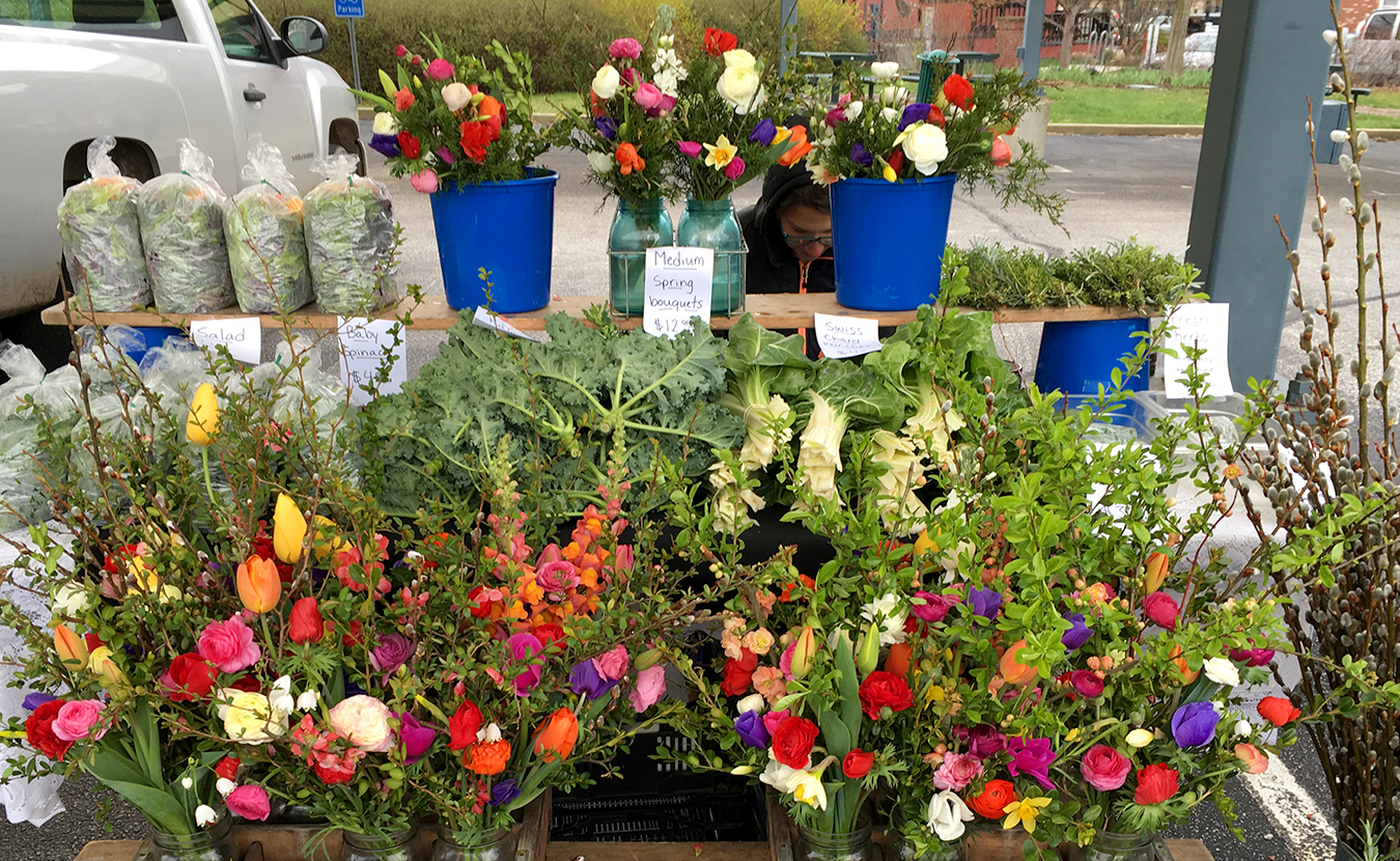 Getting the right gift for a mom on Mother's Day is important. And finding it doesn't have to be that hard. What would be better for Mom than a bouquet of flowers or a living plant? There are plenty of local options, including nurseries, florists, or venders at the farmers' market, such as Harvest Moon Flower Farm, pictured here. | Limestone Post
