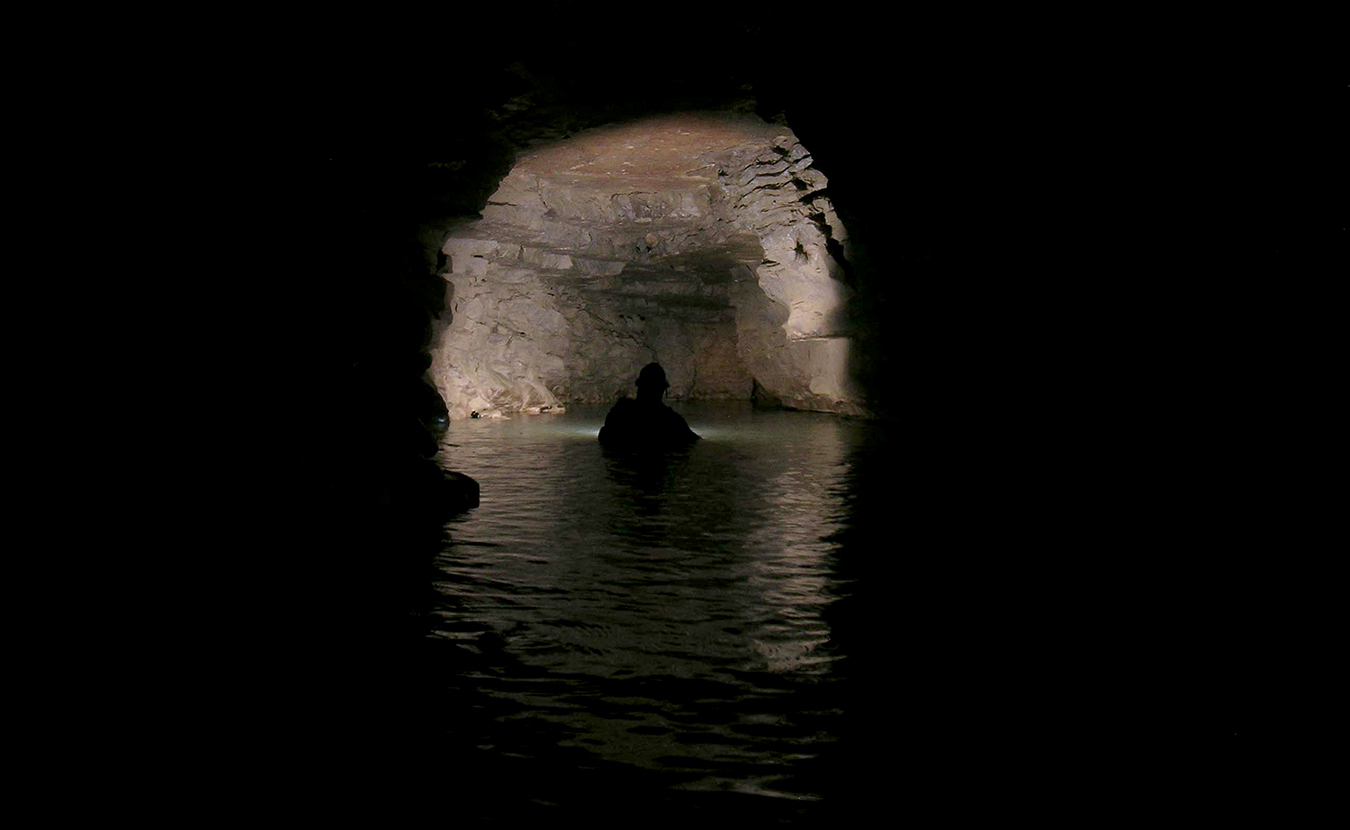 Samuel Frushour and his cave-diving peers have mapped miles of aquatic caves in southern Indiana. While Hoosier caverns might not have the clear blue waters of tropical caves, they offer an adventure that is increasing difficult to find in modern times — exploring uncharted territory. | Courtesy photo