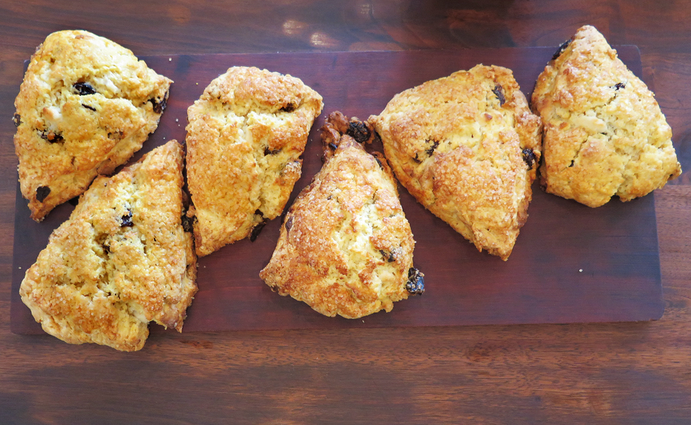 """For many, suppressing the feeling of hunger with restrictive diets only leads to more-intense levels of hunger, writes Amanda Boyer. Think """"hangry."""" But the practice of intuitive eating — eating in a way that honors and respects your body's hunger and fullness as well as your cravings, such as for a scone (pictured here at Two Sticks Bakery) — could be a more healthful and pleasurable approach to food, without dieting. 