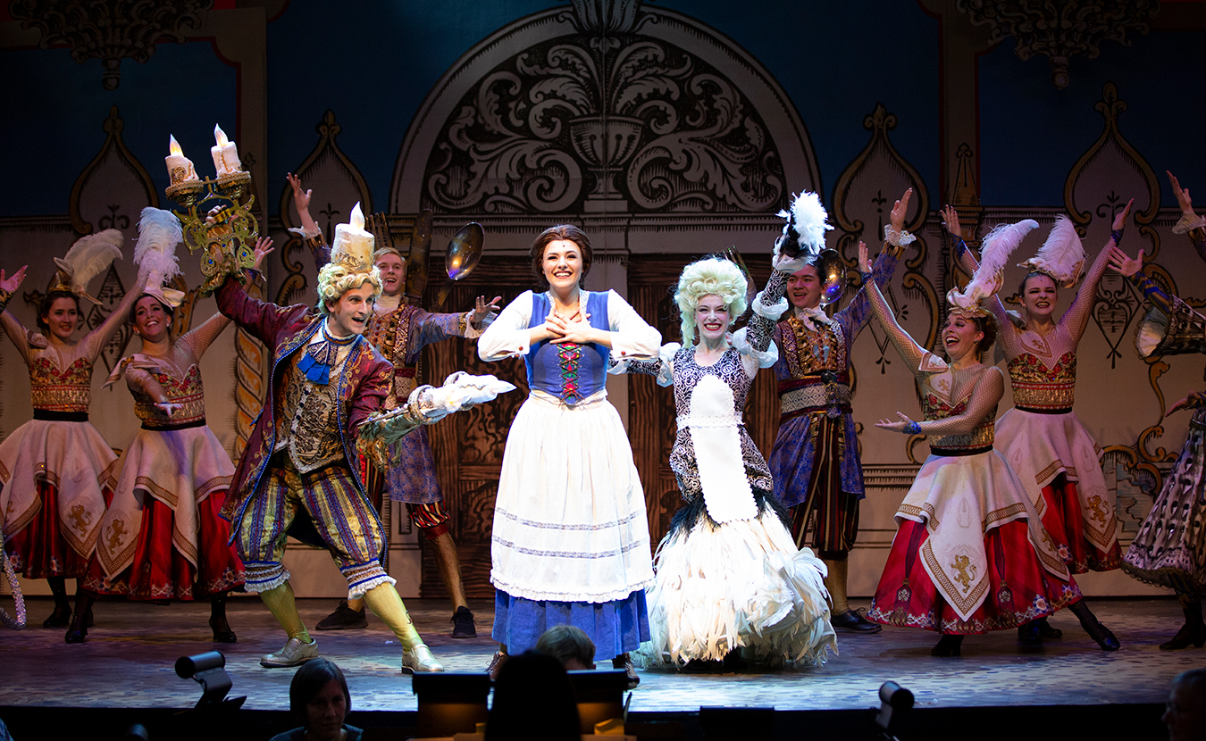 """Cardinal Stage's recent production of 'Disney's Beauty and the Beast.' Musicals """"can cost anywhere between 50 to 200 percent more to produce on average than a straight play with a similar cast size,"""" says Gabe Gloden, Managing Director at Cardinal. Cardinal is committed to bringing quality professional theatre to the region and finding the funding to make that happen while keeping ticket prices affordable. 