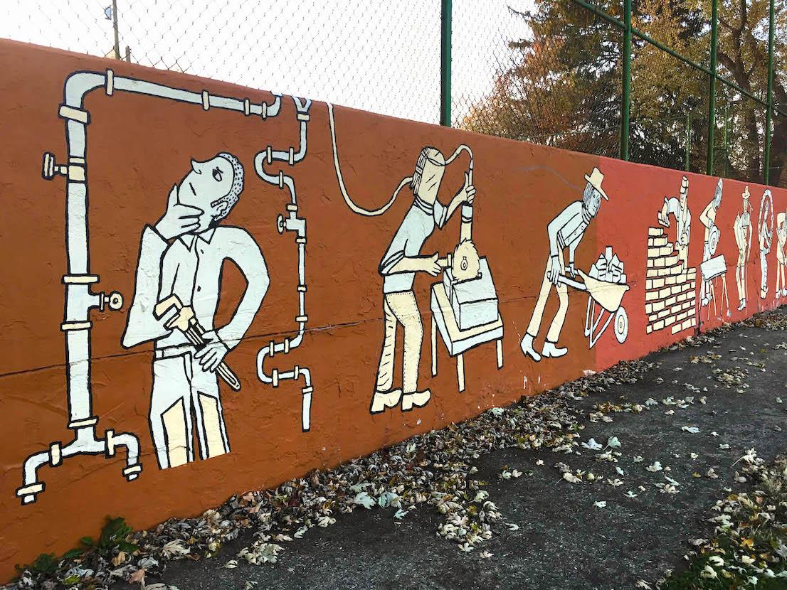 Building Trades Park (2013), 619 W. Howe St., artist — Sam Bartlett