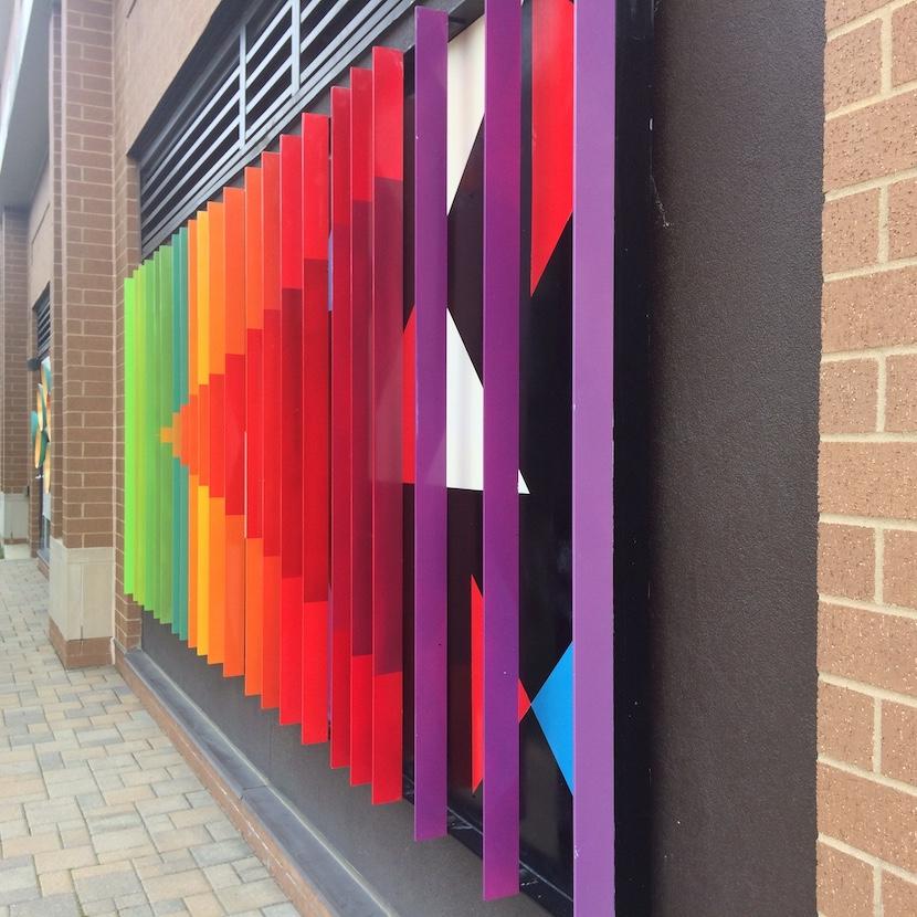 Hyatt Place (2014), 300 W. 4th St., five separate murals by artist Jeff Laramore