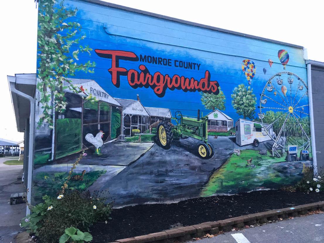 Monroe County Fairgrounds (2019), 5454 W. Airport Rd., artist — Adam Long