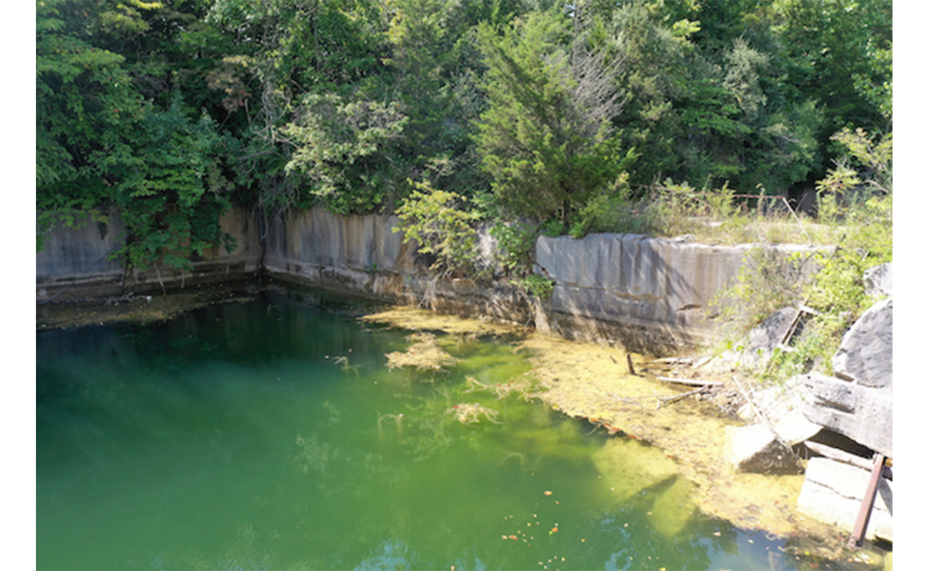 """No swimming will be allowed in any of the quarries on the property due to potential PCB contamination. An adjacent property was declared an EPA Superfund site. While """"most"""" cleanup activities finished in 1999, long-term monitoring continues. 