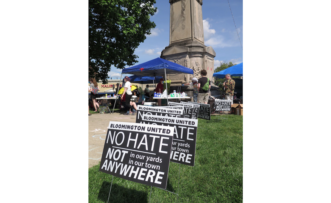 'Enough Is Enough' protest and march, June 5, 2020, Bloomington, Indiana.