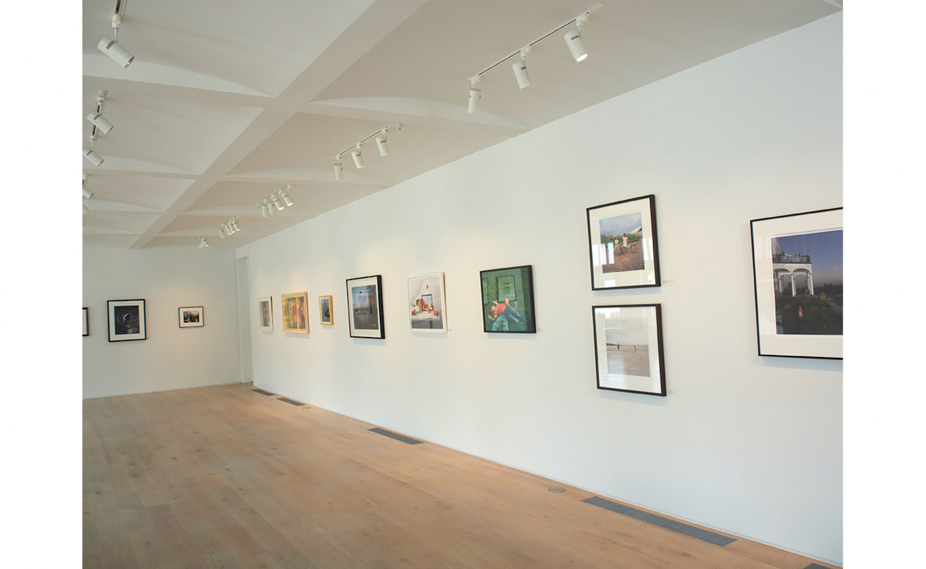 Strobel says the pale wood floors and white walls at Pictura Gallery, part of the FAR Center for Contemporary Arts, are well-suited for displaying the gallery's contemporary fine art photography.   Photo by Paige Strobel