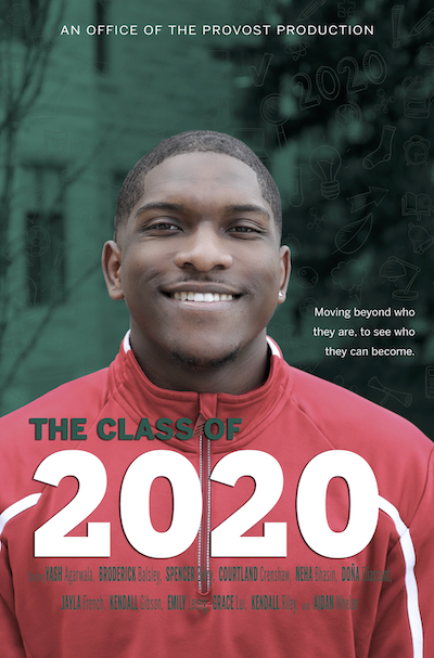 Movie poster of 'IU 2020' featuring Courtland Crenshaw