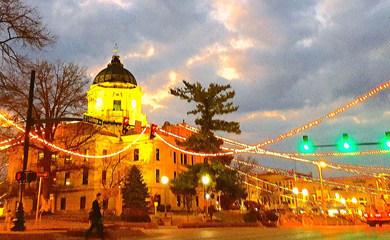Bloomington Courthouse and Clouds