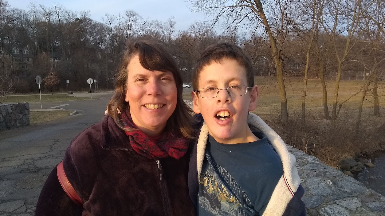 Deborah Myerson (left) and Samuel, who is now 18. He loves jazz, opera, Facetime with friends, and is a big Packers fan (Colts, too). | Courtesy photo