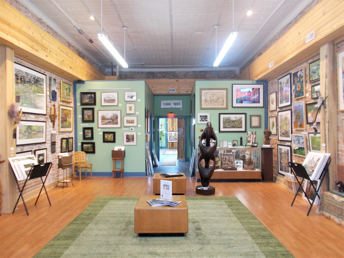Juniper Art Gallery is just one of the reasons you could make a day of it in Spencer. | Photo by Diane Walker