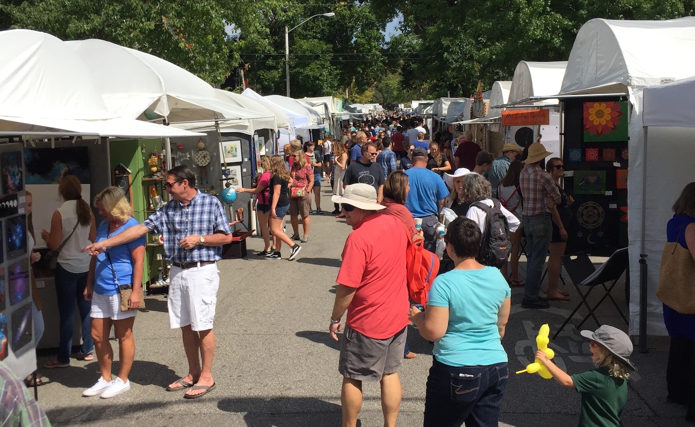 The 4th Street Festival of the Arts and Crafts returns to Bloomington on Labor Day weekend. The number of booths will be reduced to 80 from the pre-pandemic 125 (pictured), but for many of the artists, this will be the first show they've been able to do in 18 months. Many say they are looking forward to meeting with patrons and other artists in person again.